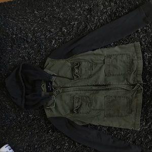American Eagle army jacket/cozy sweatshirt
